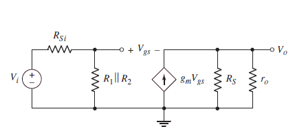 Small Signal Analysis  mon Drain Mosfet  lifier on constant current source circuit